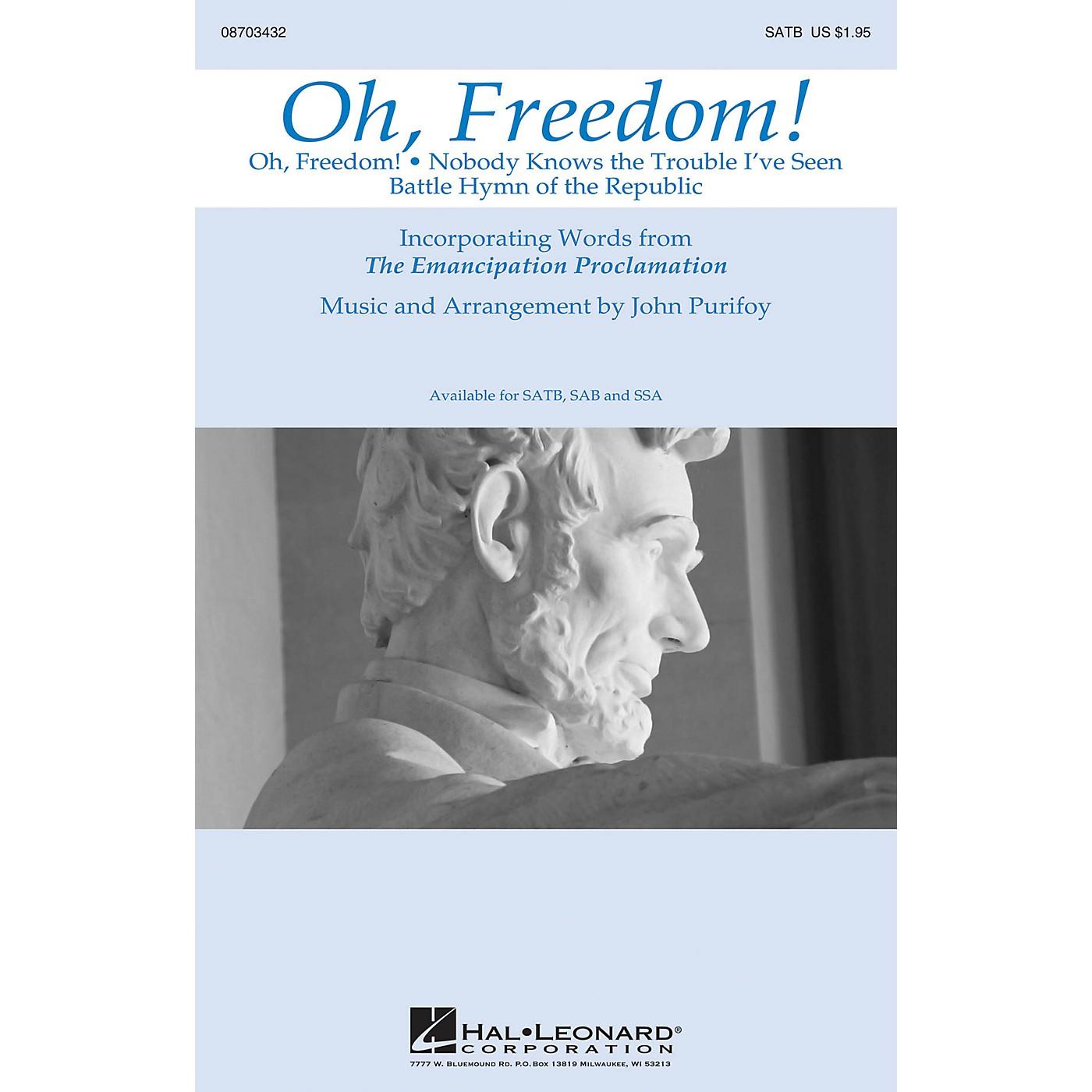 Hal Leonard Oh, Freedom! (Medley) SATB arranged by John Purifoy thumbnail