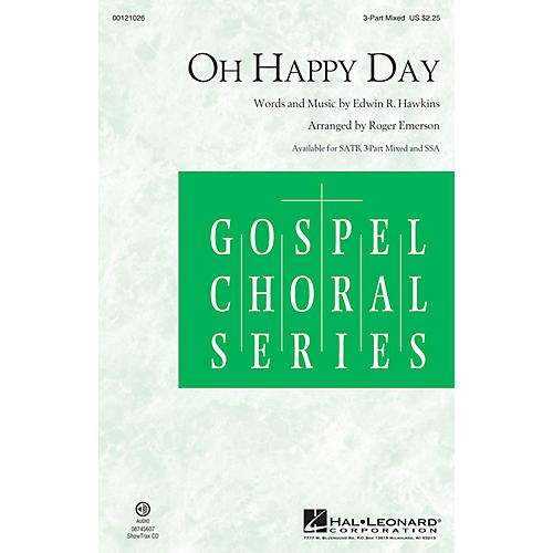 Hal Leonard Oh Happy Day 3-Part Mixed arranged by Roger Emerson thumbnail