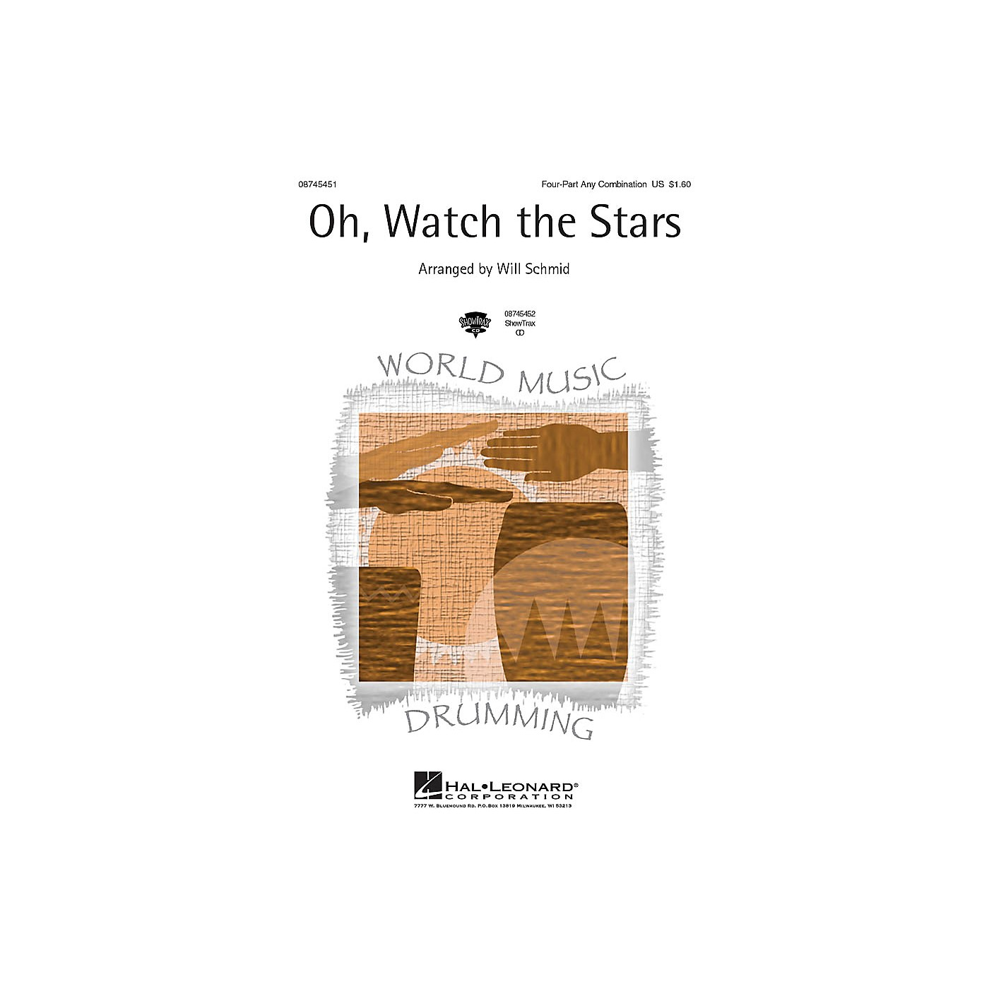 Hal Leonard Oh, Watch the Stars 4 Part Any Combination arranged by Will Schmid thumbnail