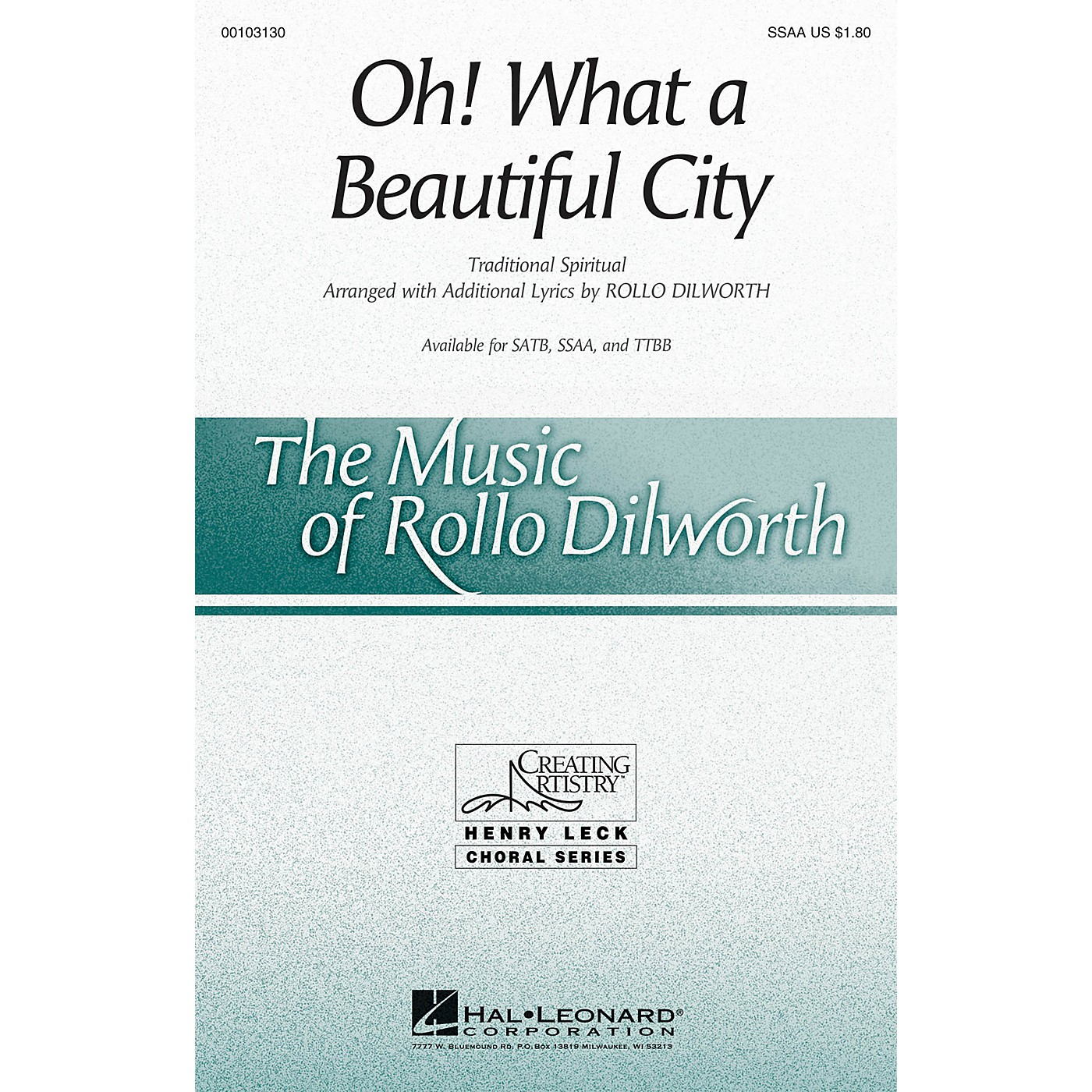 Hal Leonard Oh! What a Beautiful City SSAA arranged by Rollo Dilworth thumbnail