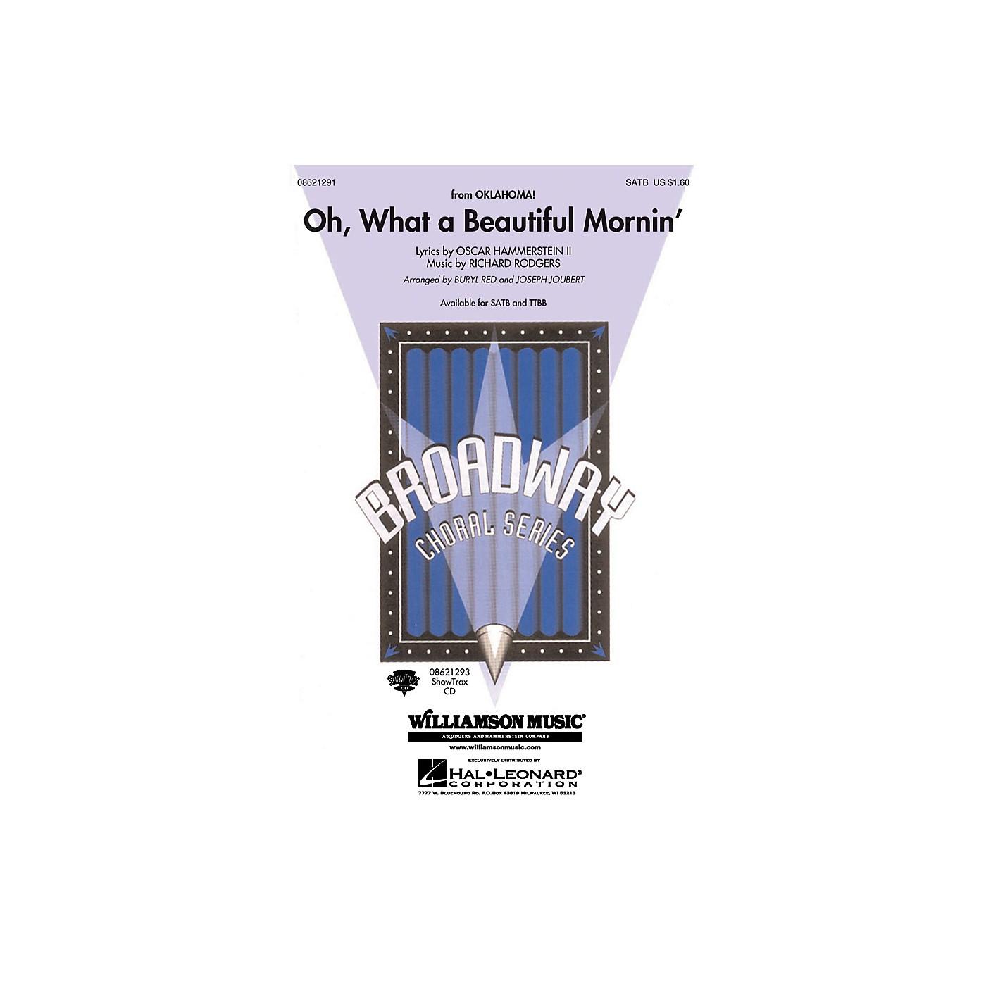 Hal Leonard Oh What a Beautiful Mornin' (from Oklahoma!) TTBB Arranged by Buryl Red thumbnail