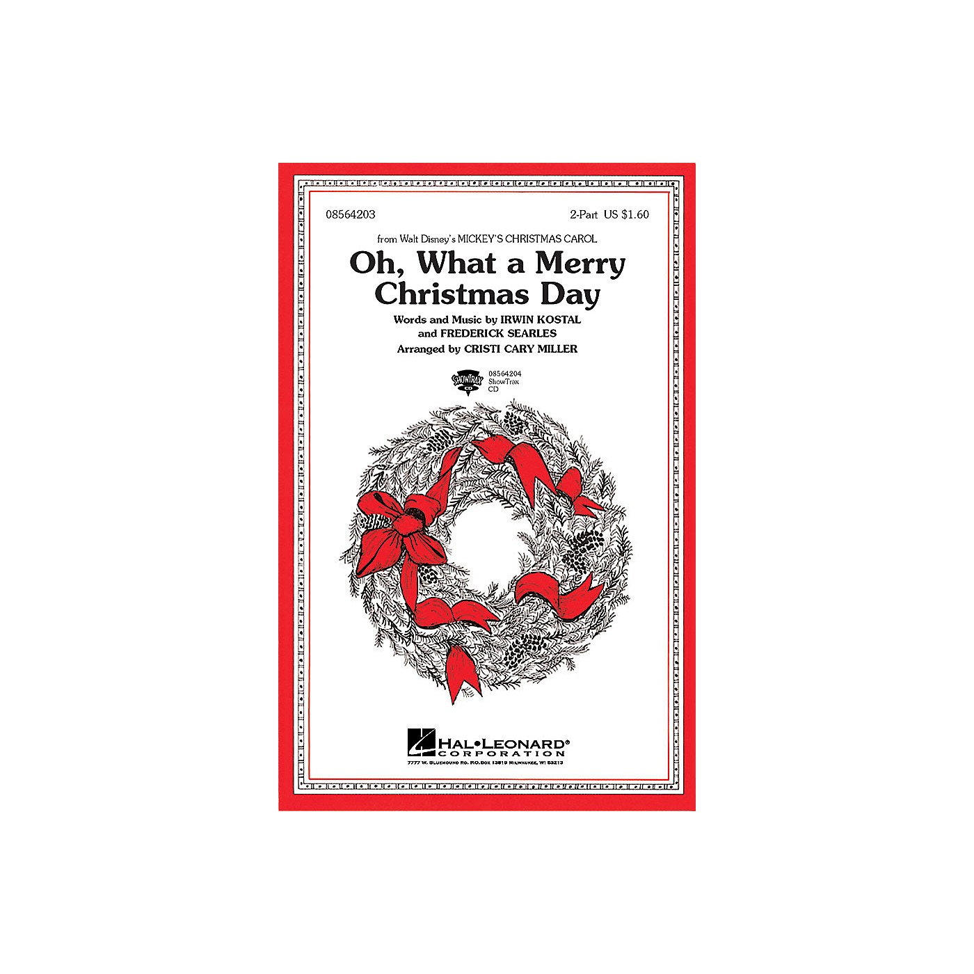 Hal Leonard Oh What a Merry Christmas Day (from Mickey's Christmas Carol) ShowTrax CD Arranged by Cristi Cary Miller thumbnail