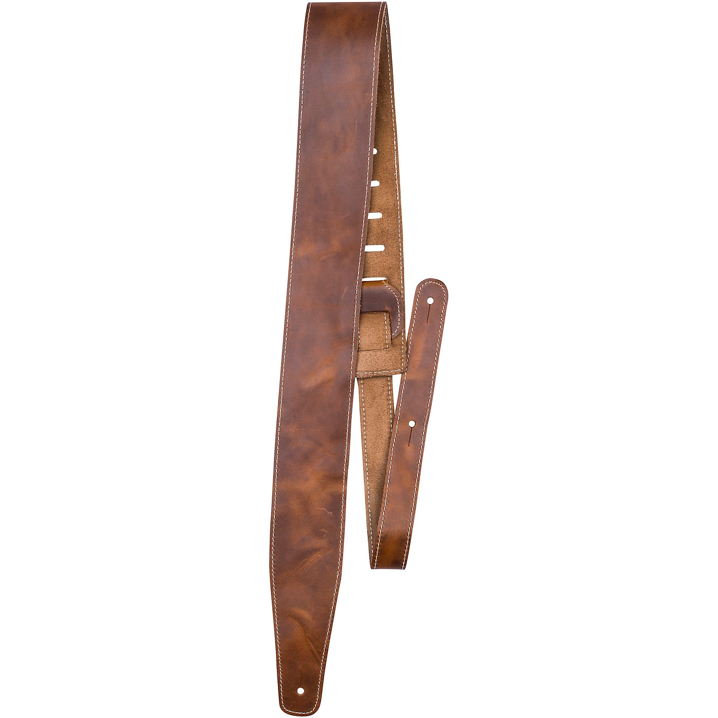 Perri's Oil Leather Guitar Strap With Contrast Stitching thumbnail
