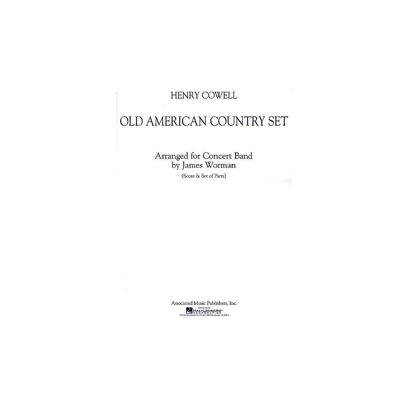 Associated Old American Country Set Concert Band Level 5 Composed by Henry Cowell Arranged by Jim Worman thumbnail