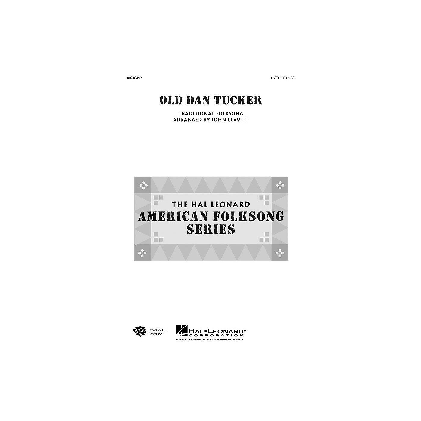 Hal Leonard Old Dan Tucker SATB arranged by John Leavitt thumbnail