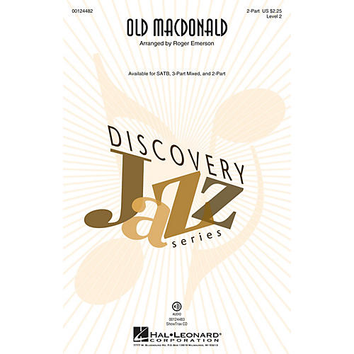 Hal Leonard Old MacDonald (Discovery Level 2) 2-Part arranged by Roger Emerson thumbnail
