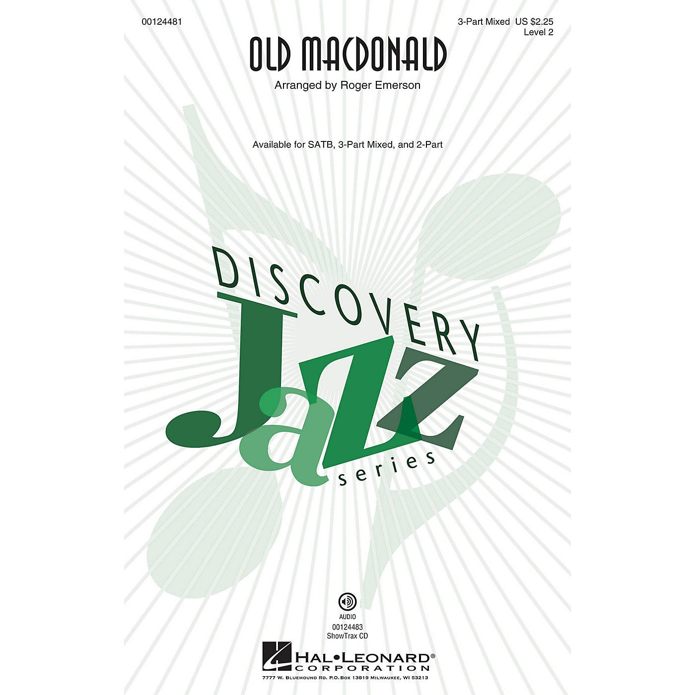 Hal Leonard Old MacDonald (Discovery Level 2) 3-Part Mixed arranged by Roger Emerson thumbnail