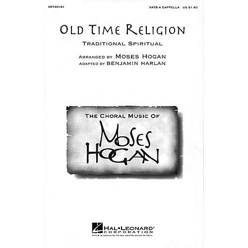 Hal Leonard Old Time Religion SATB a cappella arranged by Moses Hogan thumbnail