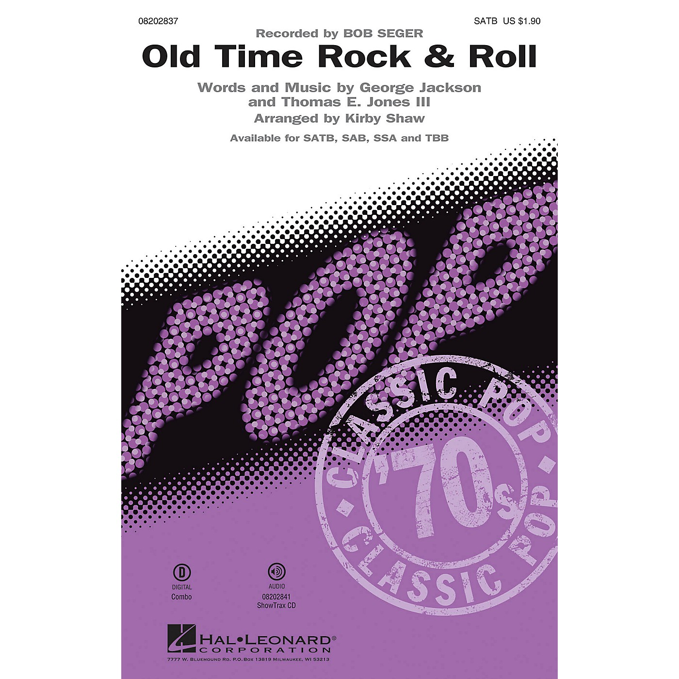 Hal Leonard Old Time Rock & Roll TBB by Bob Seger Arranged by Kirby Shaw thumbnail