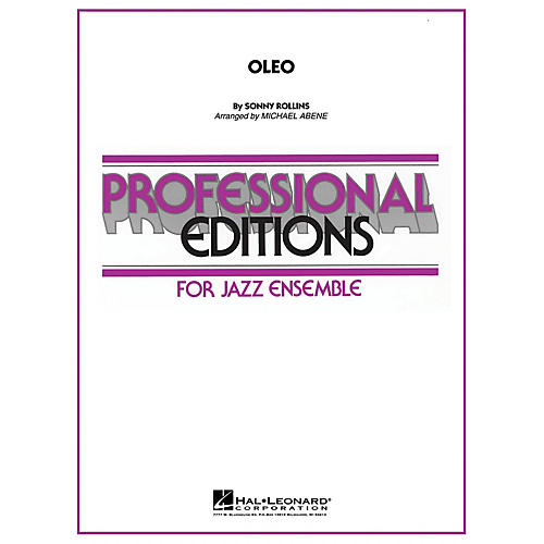 Hal Leonard Oleo Jazz Band Level 56 Arranged By Michael Abene Thumbnail: Oleo Sheet Music Concert At Alzheimers-prions.com