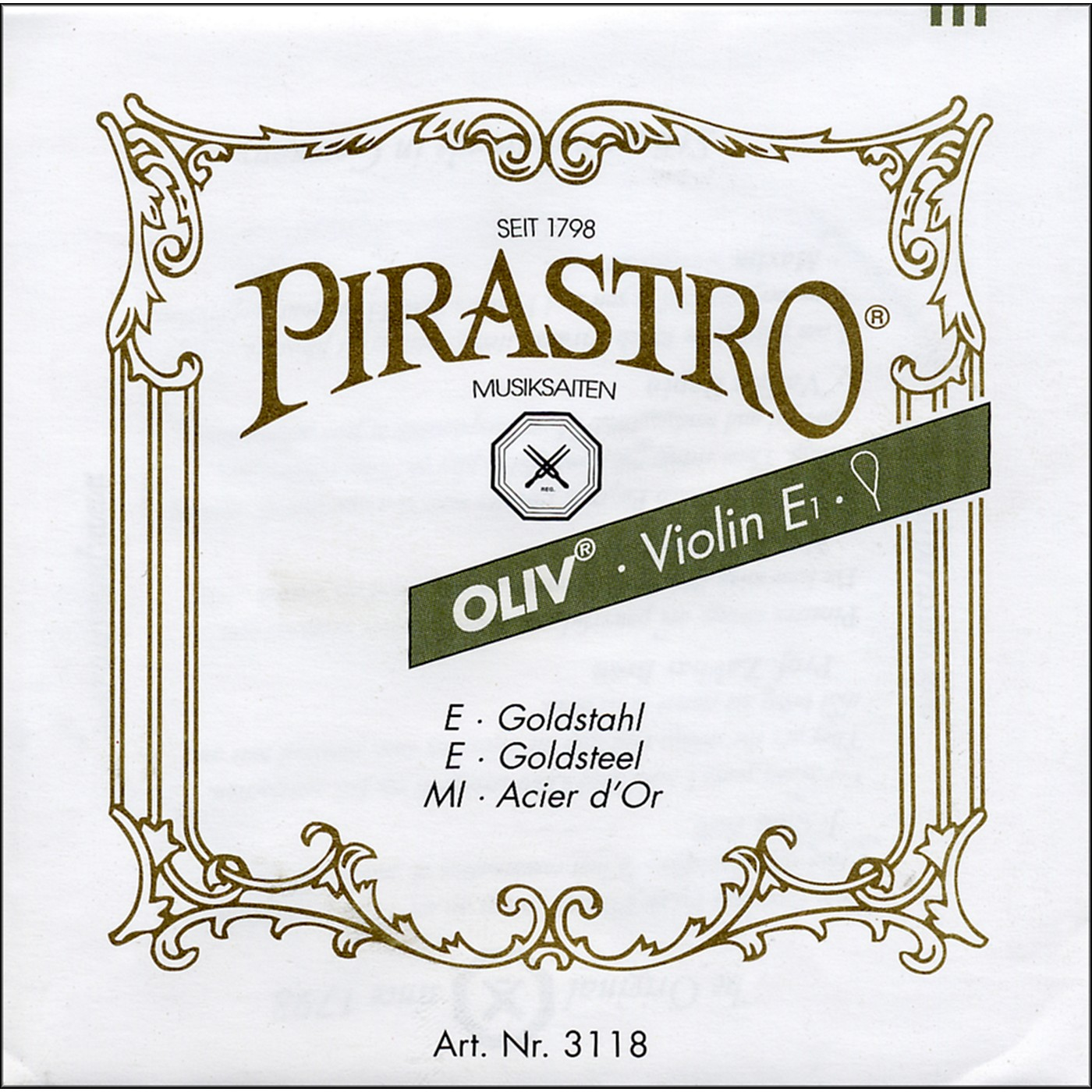 Pirastro Oliv Series Violin String Set thumbnail
