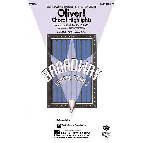 Hal Leonard Oliver - Choral Highlights SATB arranged by Roger Emerson thumbnail