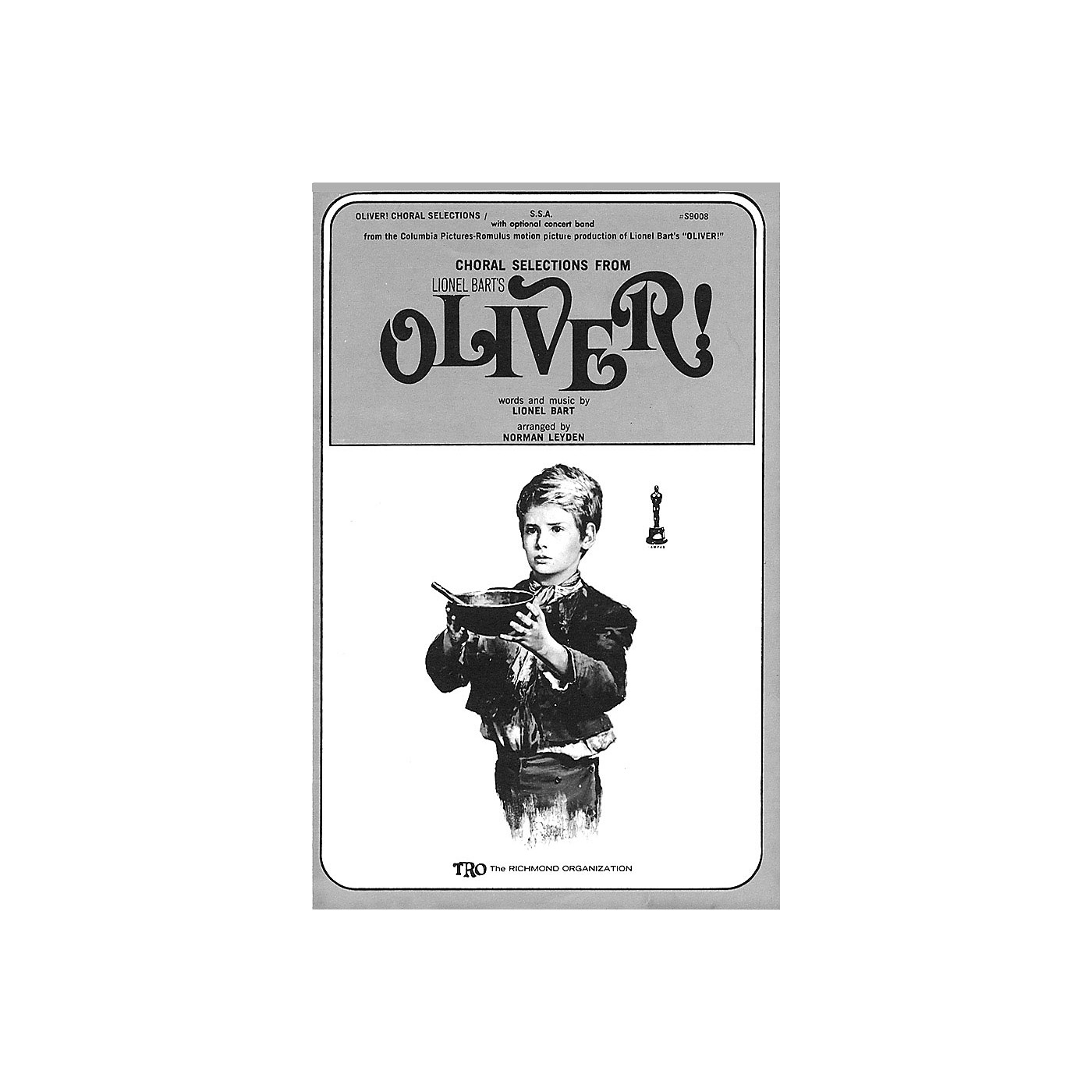 TRO ESSEX Music Group Oliver! (Choral Selections) SATB Arranged by Norman Leyden thumbnail
