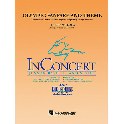 Hal Leonard Olympic Fanfare and Theme - Discovery Plus Concert Band Series Level 1 arranged by Eric Osterling thumbnail