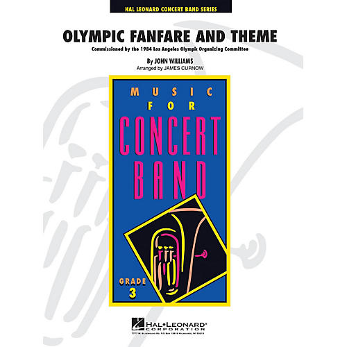 Hal Leonard Olympic Fanfare and Theme - Young Concert Band Series Level 3 arranged by James Curnow thumbnail