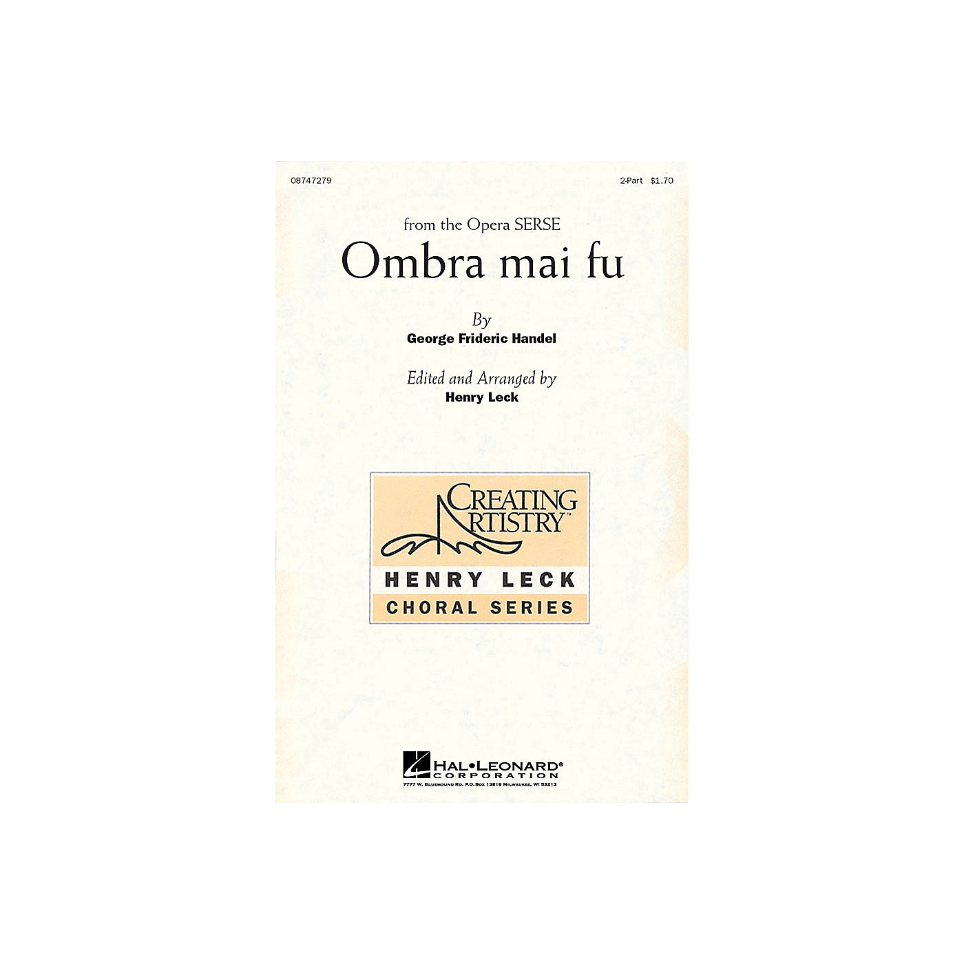 Hal Leonard Ombra mai fu 2-Part arranged by Henry Leck thumbnail
