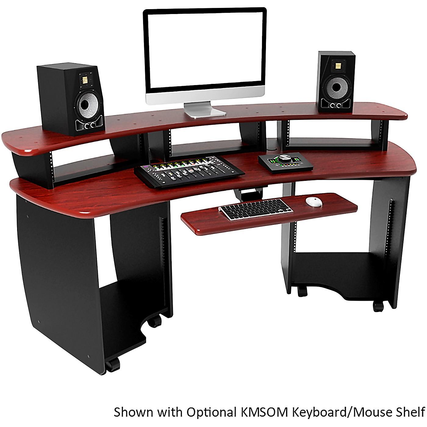 Omnirax OmniDesk Audio/Video Editing Workstation - Mahogany thumbnail