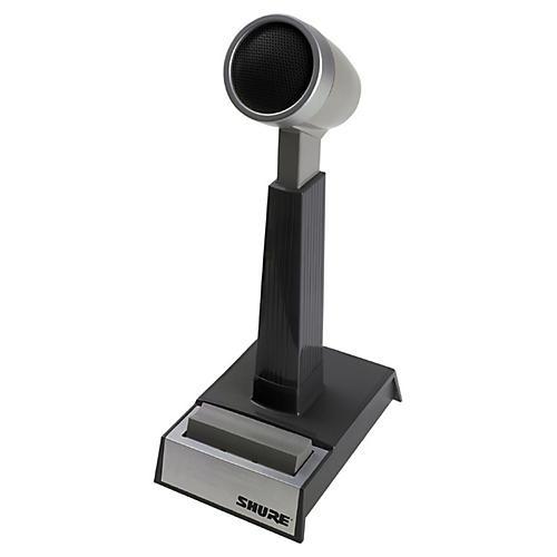 Shure Omnidirectional dynamic, high or low Z, push-to-talk, desktop microphone thumbnail