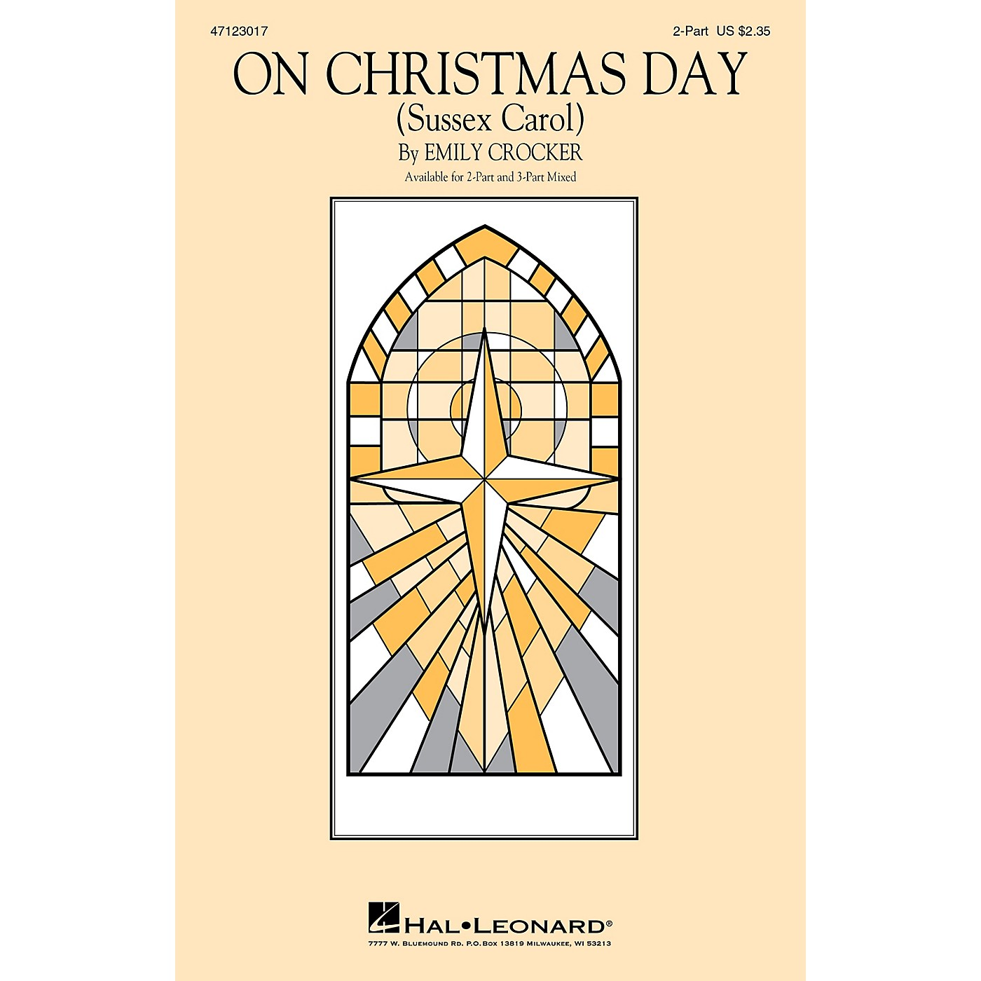 Hal Leonard On Christmas Day (Sussex Carol) 2-Part arranged by Emily Crocker thumbnail