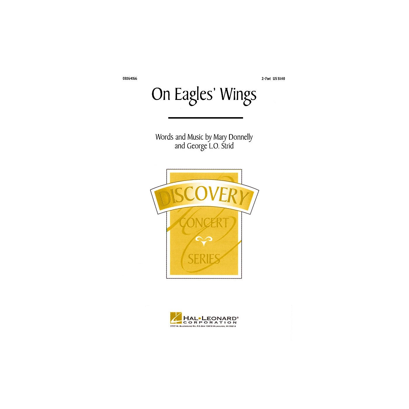 Hal Leonard On Eagles' Wings (2-Part and Piano) 2-Part composed by Mary Donnelly thumbnail