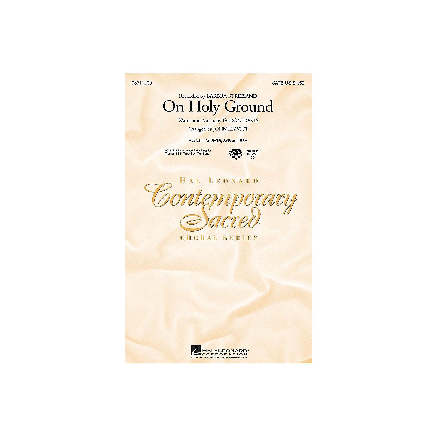 Hal Leonard On Holy Ground ShowTrax CD by Barbra Streisand Arranged by John Leavitt thumbnail