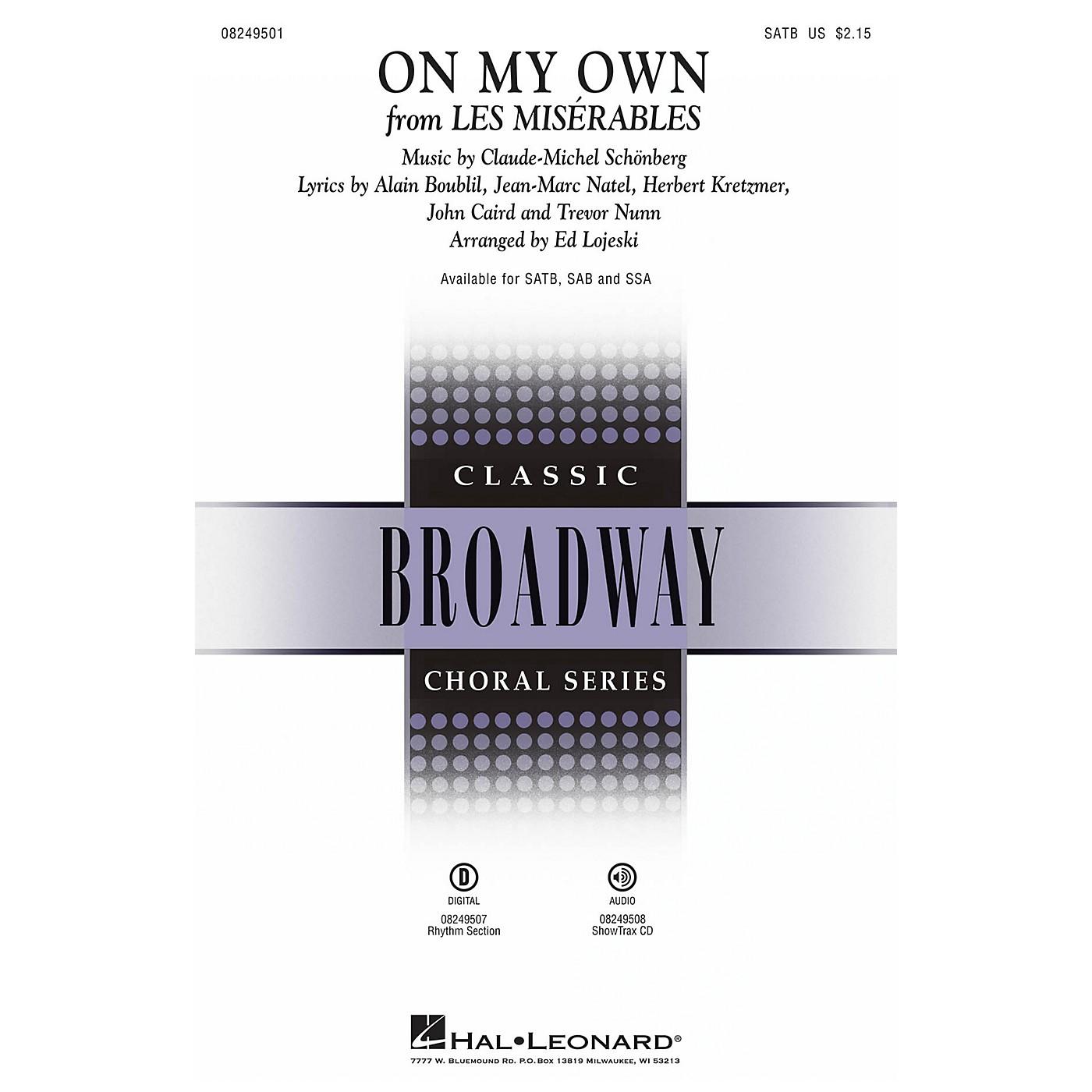 Hal Leonard On My Own (from Les Misérables) ShowTrax CD Arranged by Ed Lojeski thumbnail