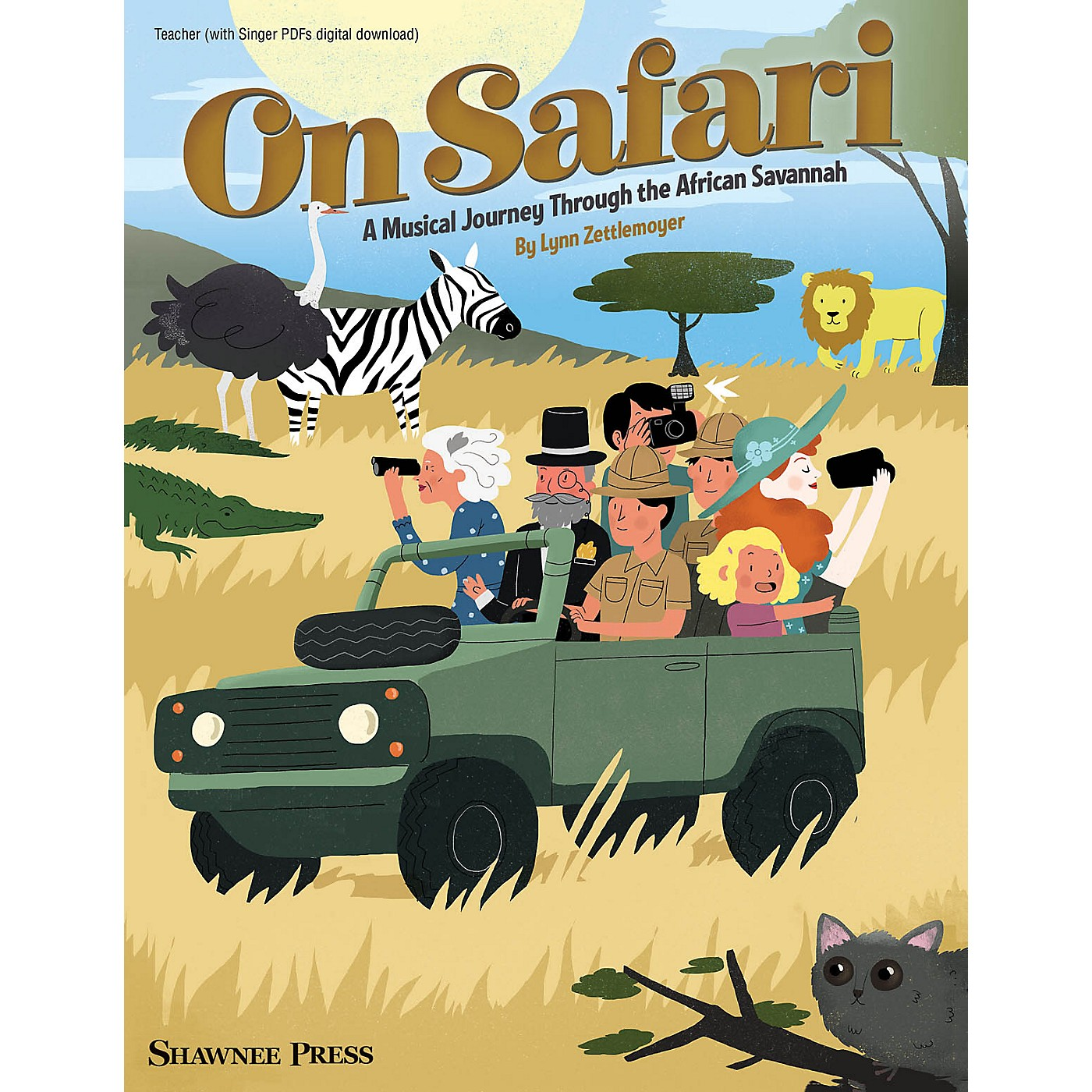 Hal Leonard On Safari (A Musical Journey Through the African Savannah) TEACHER BOOK WITH SGR CODE by Lynn Zettlemoyer thumbnail