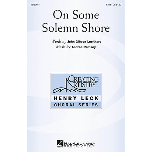 Hal Leonard On Some Solemn Shore SATB composed by Andrea Ramsey thumbnail