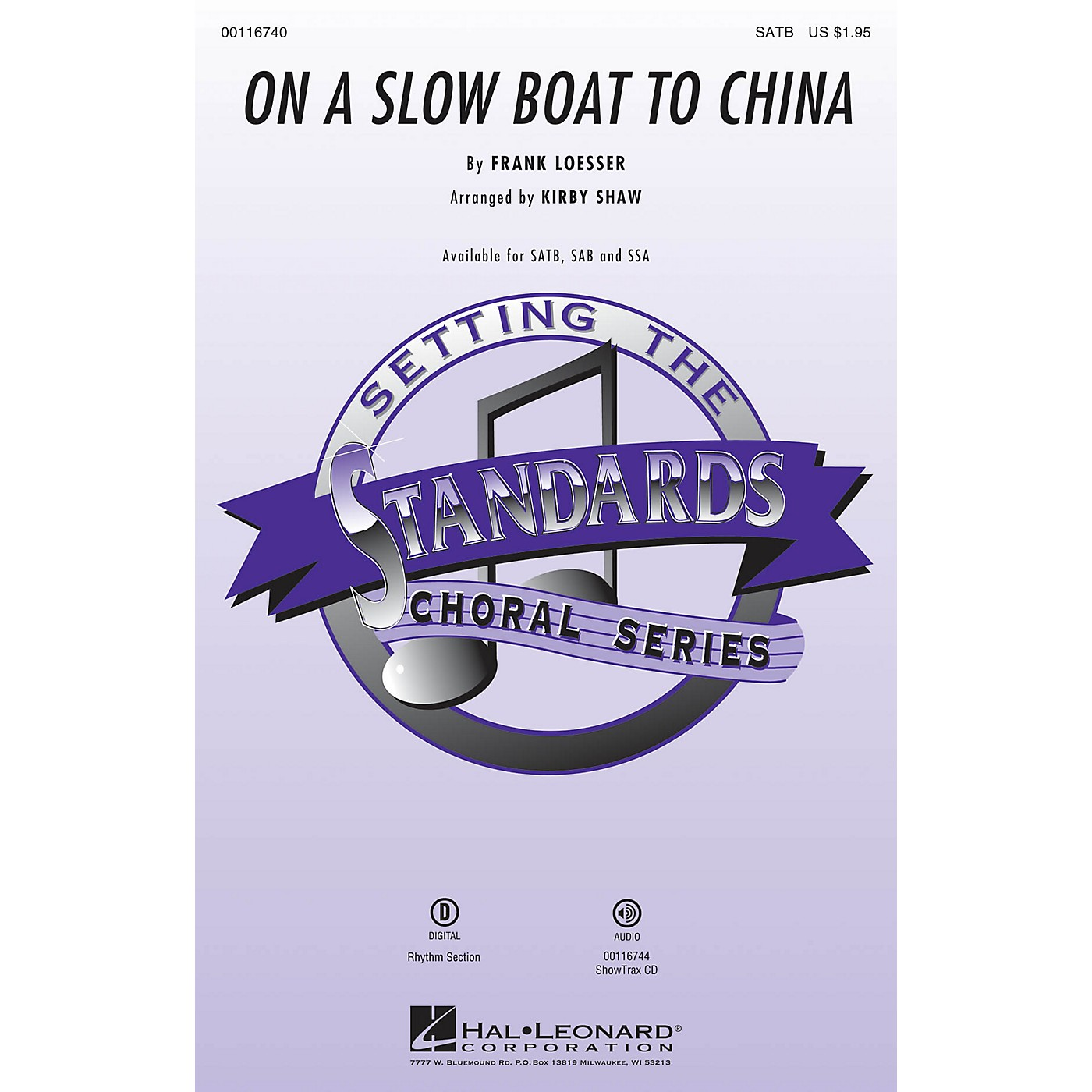 Hal Leonard On a Slow Boat to China SAB Arranged by Kirby Shaw thumbnail