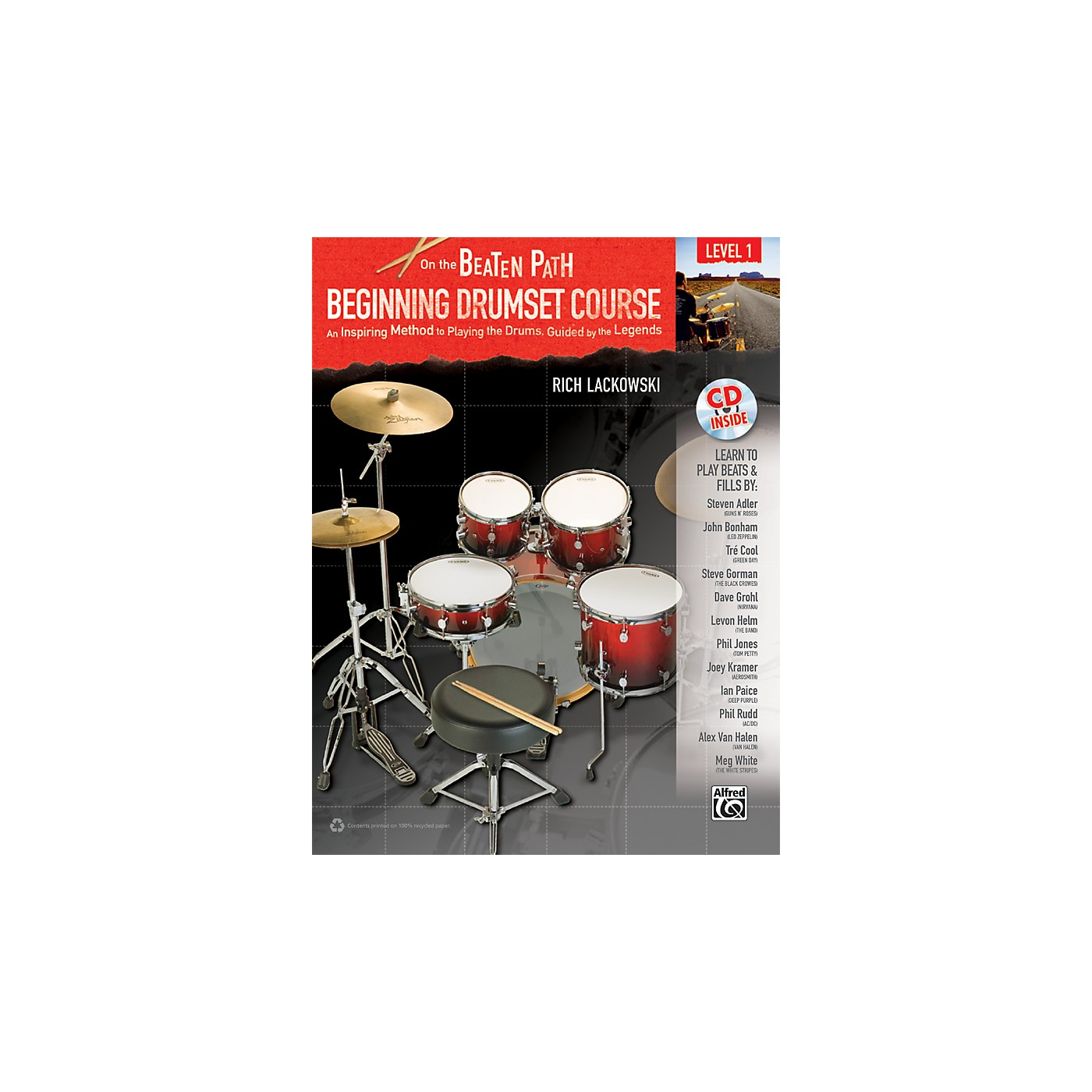 Alfred On the Beaten Path Beginning Drumset Course Level 1 with CD thumbnail