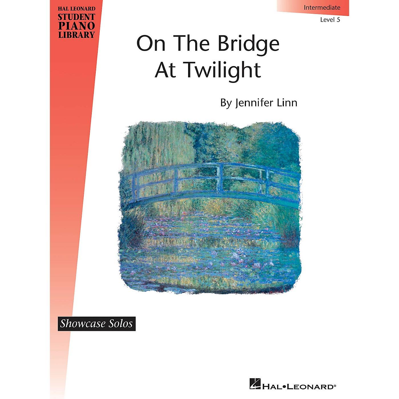 Hal Leonard On the Bridge at Twilight Piano Library Series by Jennifer Linn (Level Inter) thumbnail