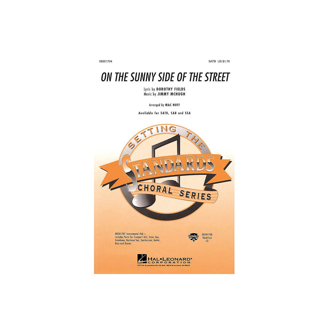 Hal Leonard On the Sunny Side of the Street SSA Arranged by Mac Huff thumbnail