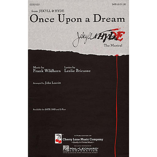 Cherry Lane Once Upon a Dream SATB arranged by John Leavitt thumbnail