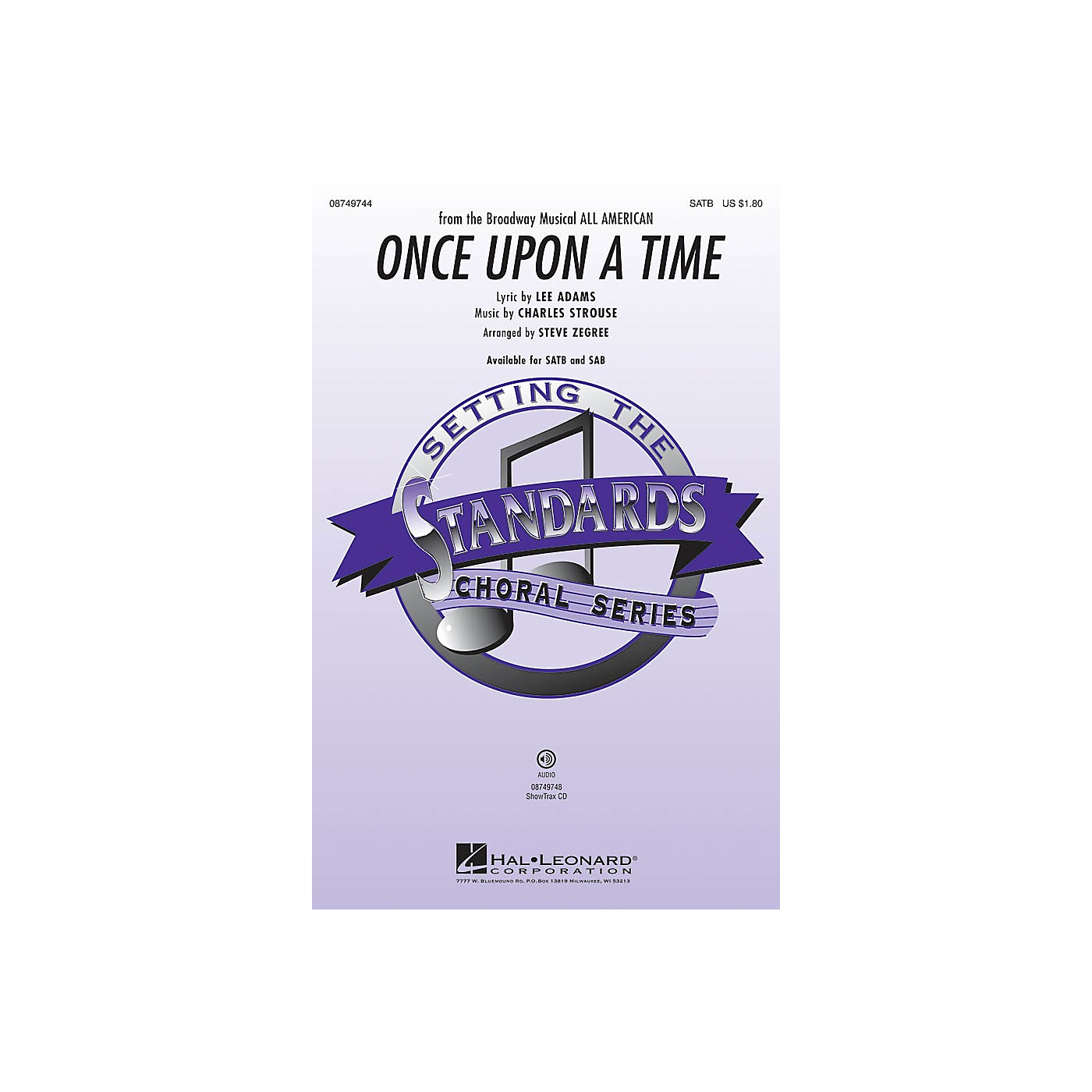 Hal Leonard Once Upon a Time SATB arranged by Steve Zegree thumbnail