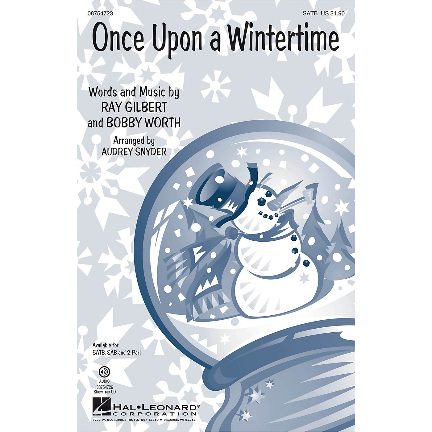 Hal Leonard Once Upon a Wintertime 2-Part Arranged by Audrey Snyder thumbnail