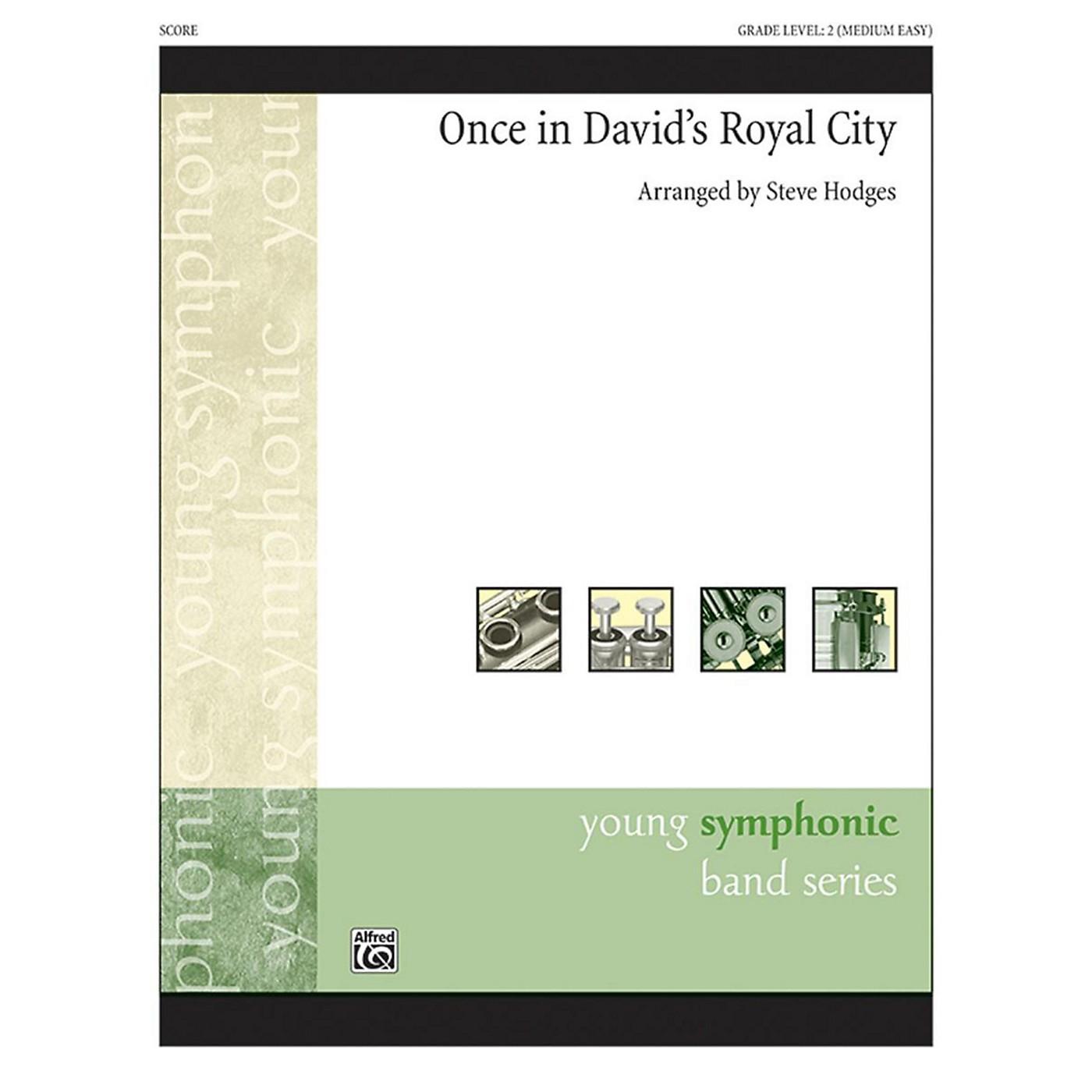 Alfred Once in Royal David's City Concert Band Grade 2 thumbnail