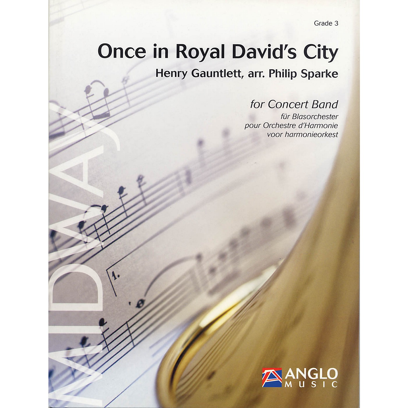 Anglo Music Press Once in Royal David's City (Grade 3 - Score Only) Concert Band Level 3 Arranged by Philip Sparke thumbnail