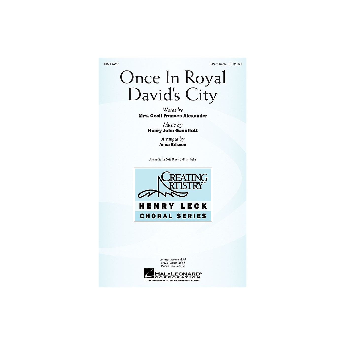 Hal Leonard Once in Royal David's City IPAKS Arranged by Anna Briscoe thumbnail