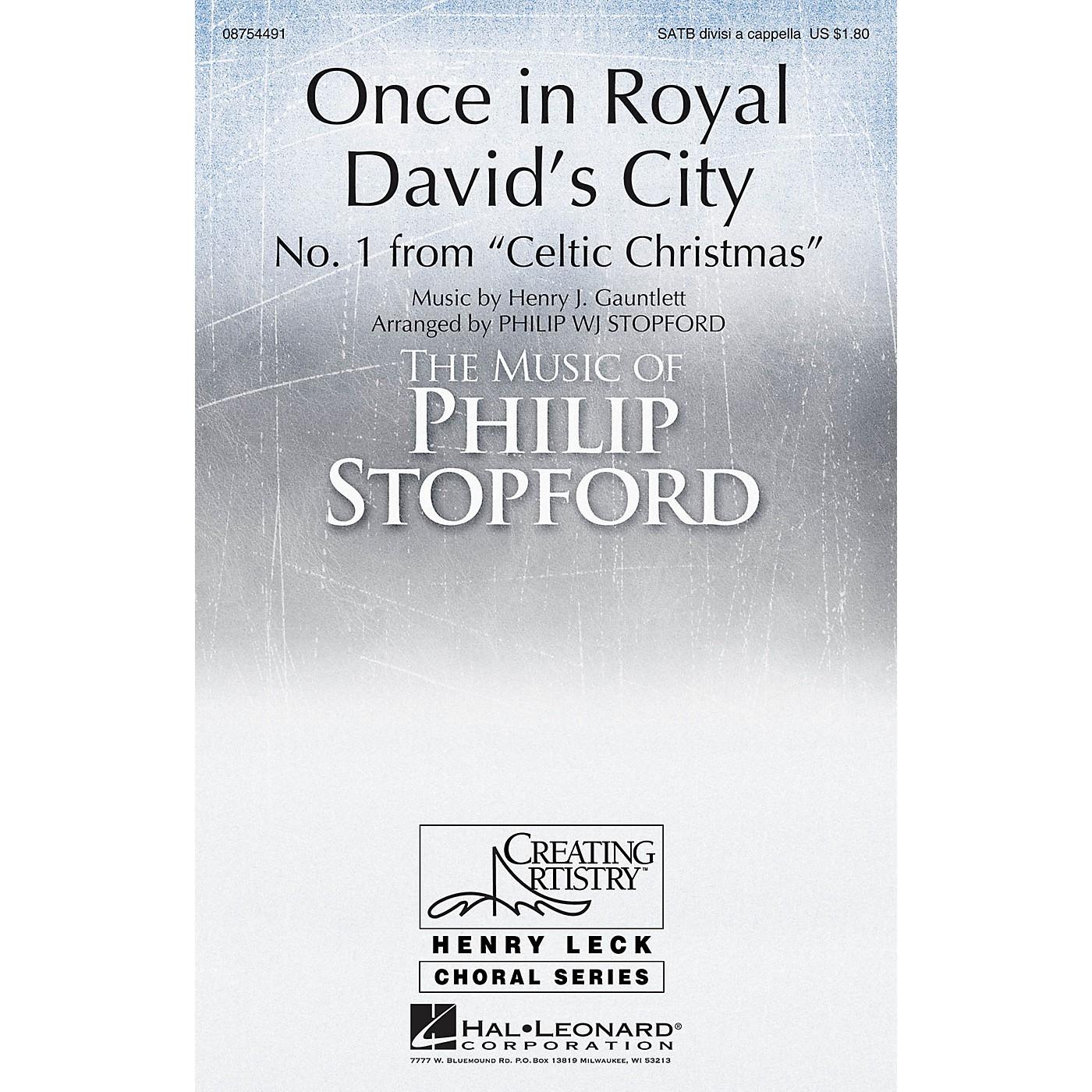 Hal Leonard Once in Royal David's City SATB Divisi arranged by Philip Stopford thumbnail