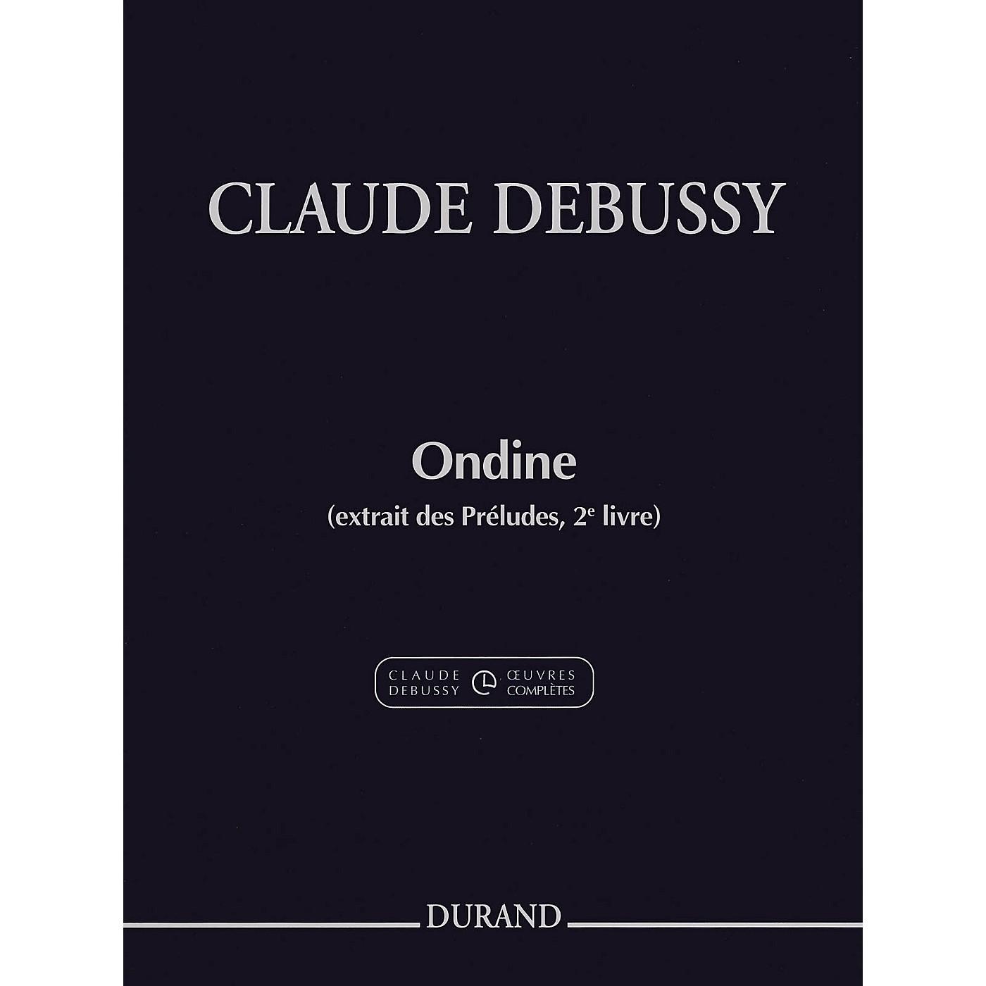 Durand Ondine (extrait des Préludes, 2e livre) Editions Durand Series Softcover thumbnail