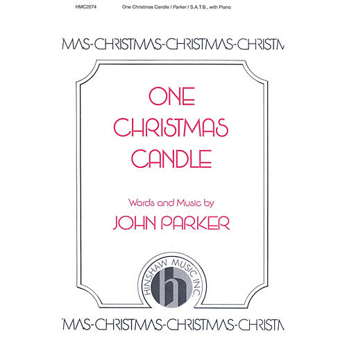 Hinshaw Music One Christmas Candle SATB composed by John Parker thumbnail