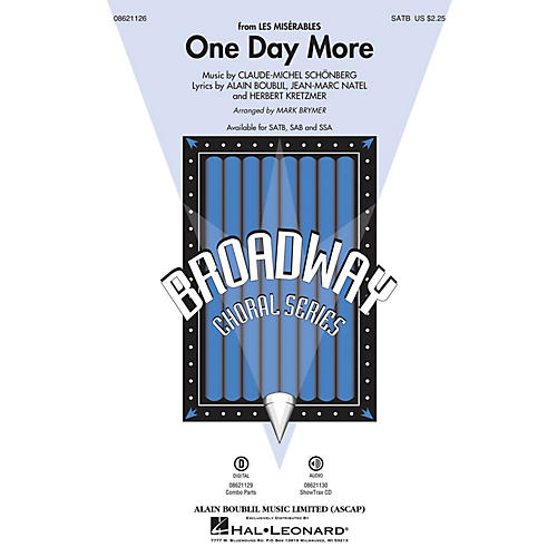 Hal Leonard One Day More (from Les Misérables) Combo Parts Arranged by Mark Brymer thumbnail