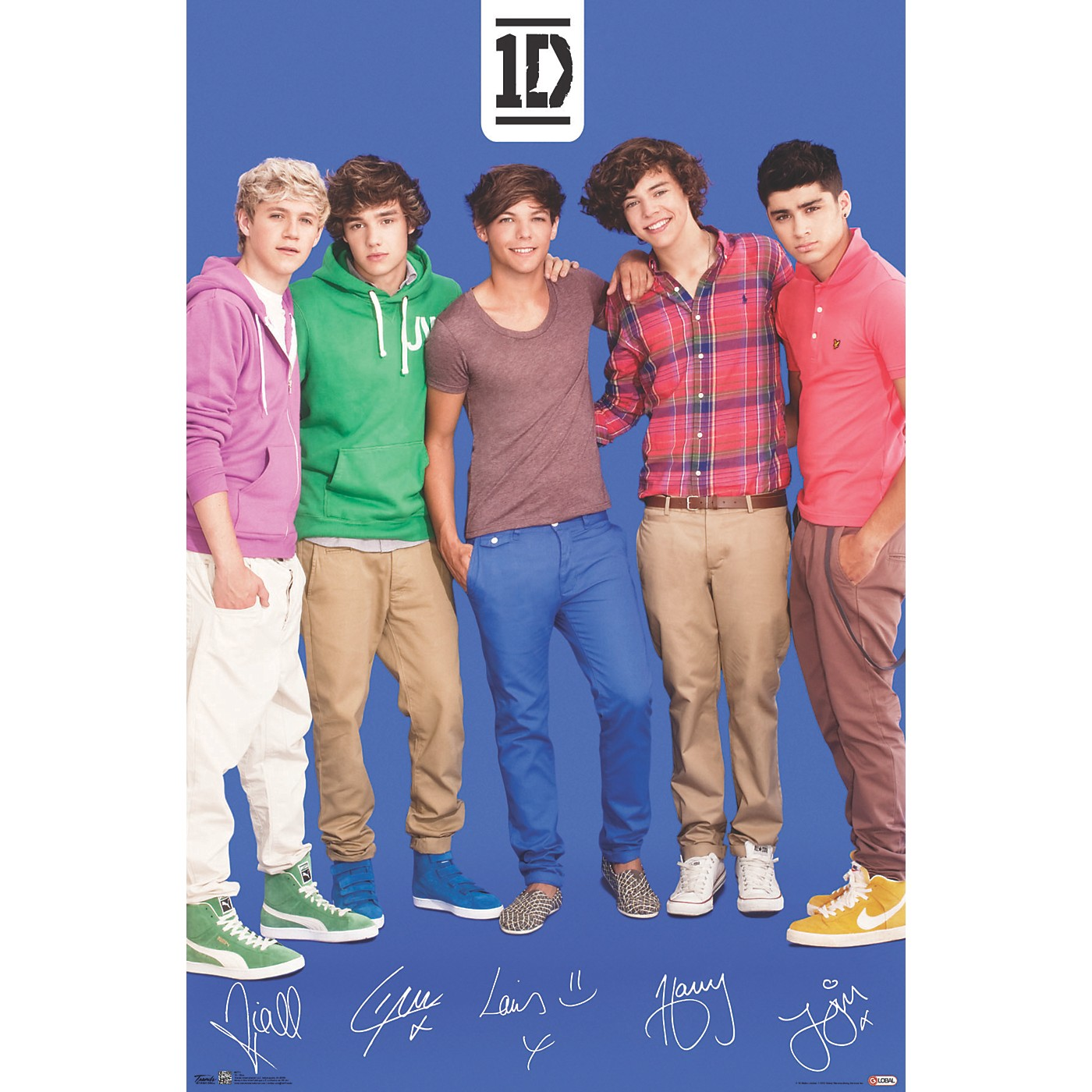 Trends International One Direction - Blue Poster thumbnail