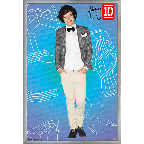 Trends International Framed Silver One Direction