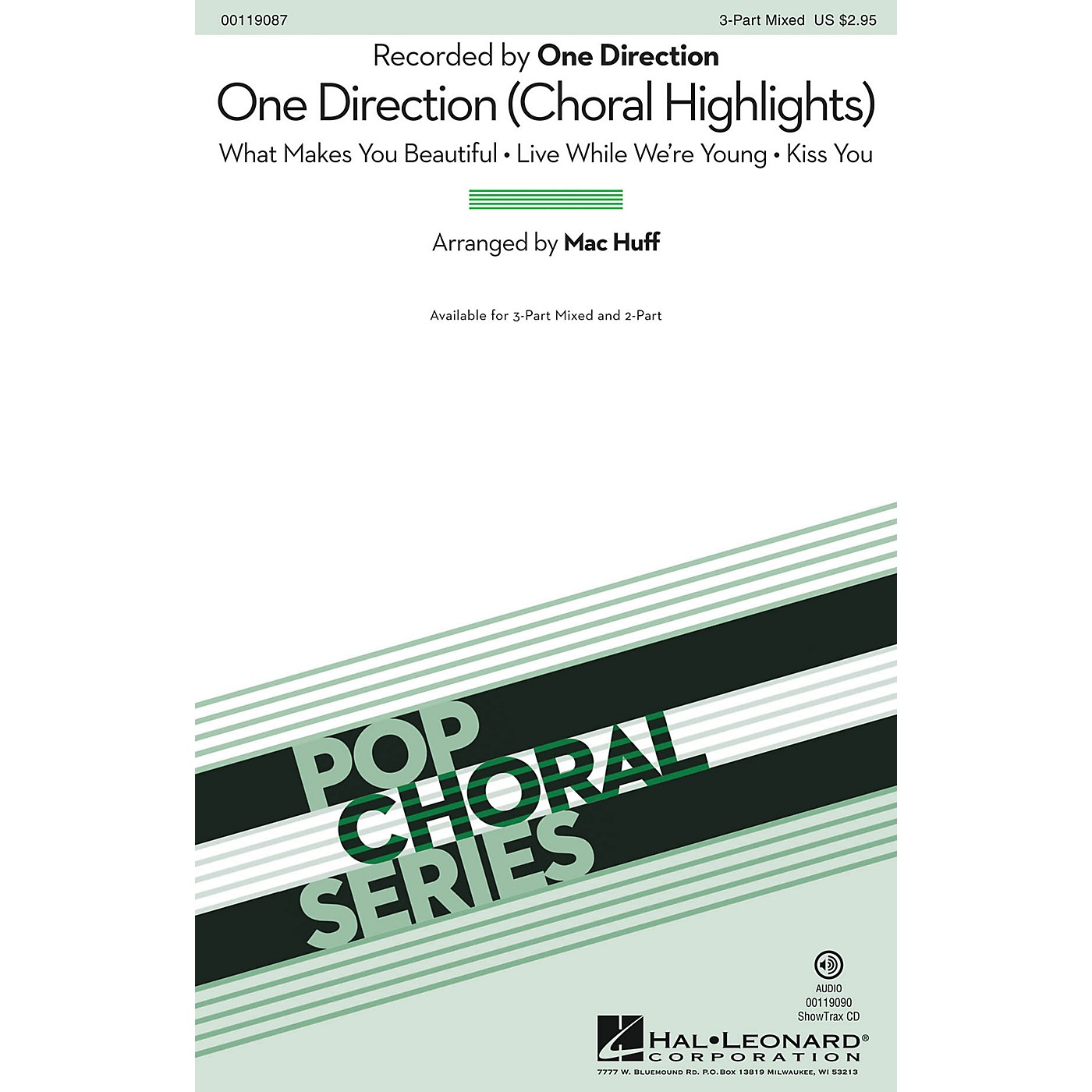 Hal Leonard One Direction (Choral Highlights) 3-Part Mixed by One Direction arranged by Mac Huff thumbnail
