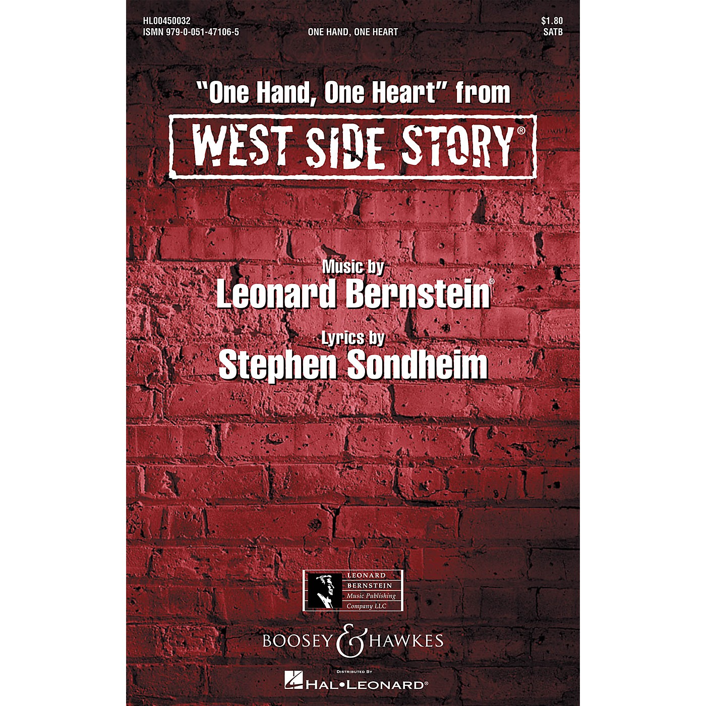 Hal Leonard One Hand, One Heart (from West Side Story) SSA Arranged by William Stickles thumbnail