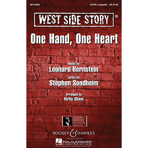 Leonard Bernstein Music One Hand, One Heart (from West Side Story) TTBB A Cappella Arranged by Kirby Shaw thumbnail