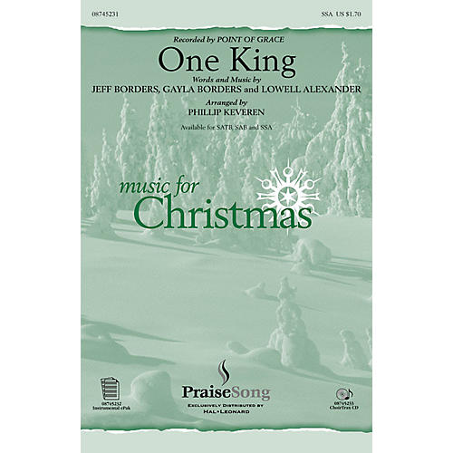 PraiseSong One King SSA by Point Of Grace arranged by Phillip Keveren thumbnail