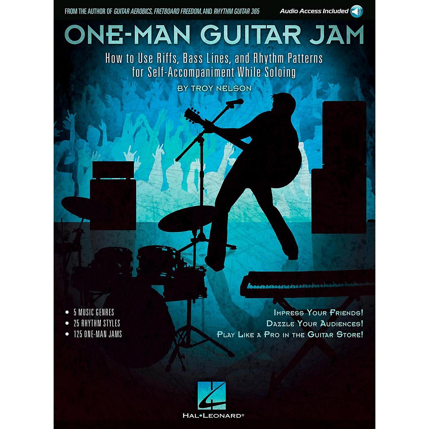 Hal Leonard One-Man Guitar Jam Book with Online Audio thumbnail