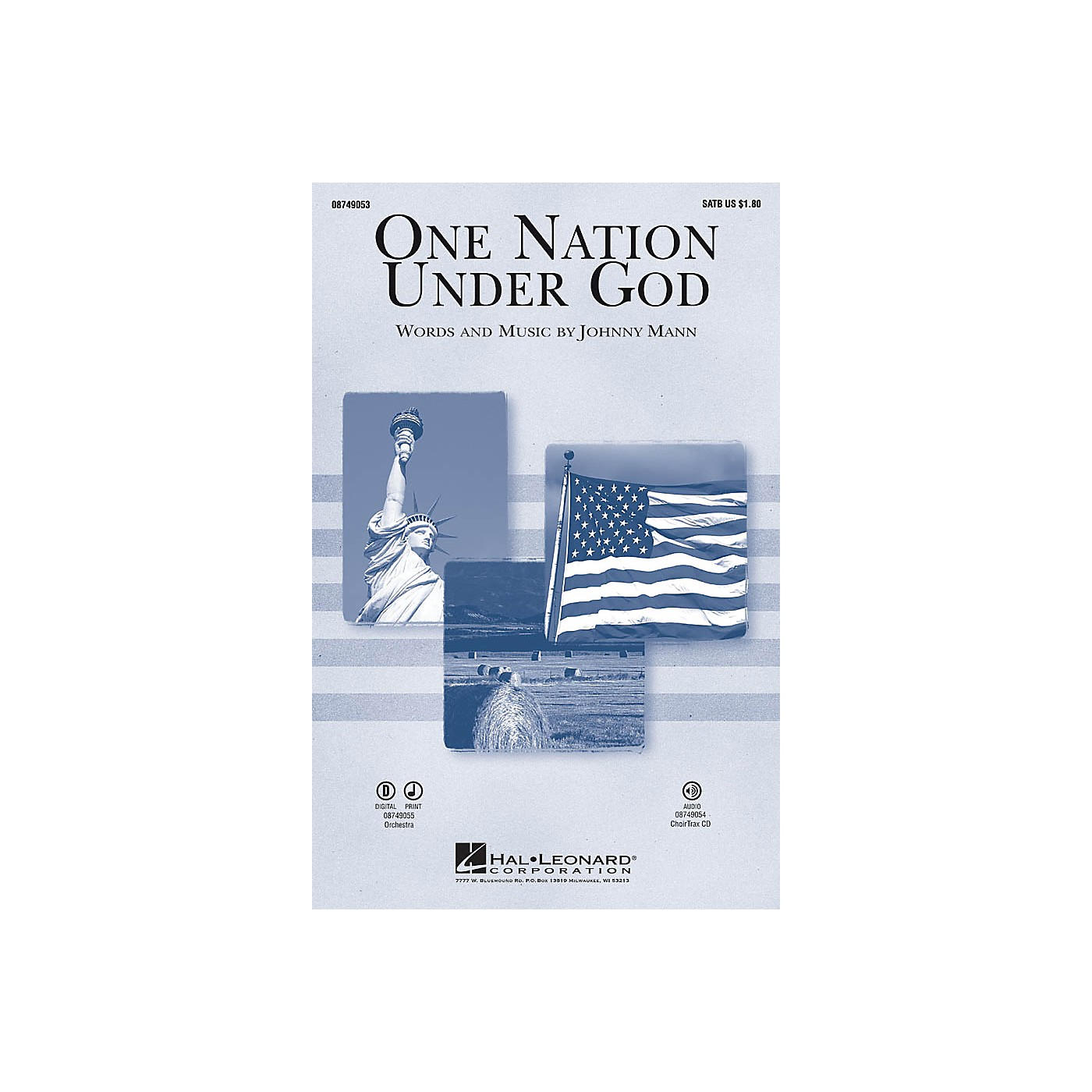 Hal Leonard One Nation Under God CHOIRTRAX CD Composed by Johnny Mann thumbnail